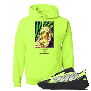 Yeezy 700 MNVN Phosphor Hoodie | God Told Me, Safety Green