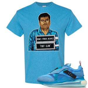 Air Max 720 OBJ Slip Light Blue T Shirt | Heather Sapphire, El Chapo Illustration