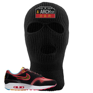 Air Max 1 NYC Chinatown Arch Street Philadelphia Black Ski Mask To Match Sneakers