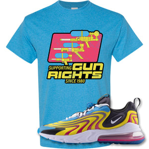 Water Soaker Heather Sapphire T-Shirt to match Air Max 270 React ENG Laser Blue Sneakers