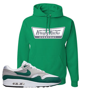 Air Max 1 Evergreen Hoodie | Krispy Kicks, Kelly Green