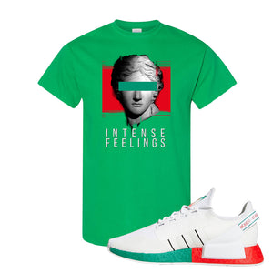 NMD R1 V2 Ciudad De Mexico T Shirt | Irish Green, Intense Feelings