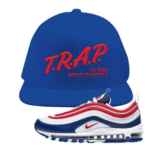 Air Max 97 USA Snapback Hat | Royal Blue, Trap To Rise Above Poverty
