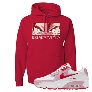 Air Max 90 Love Letter Hoodie | Eyes Don't Lie, Red