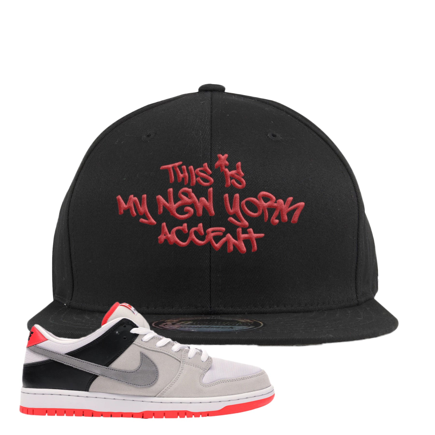 nike sb dunk low infrared orange label this is my new york accent