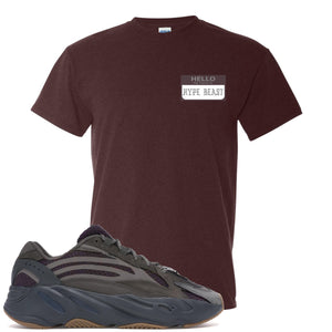 Yeezy Boost 700 Geode Sneaker Hook Up Hello My Name Is Hype Beast Pablo Russet T-Shirt