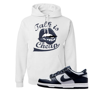 SB Dunk Low Georgetown Hoodie | Talk Is Cheap, White
