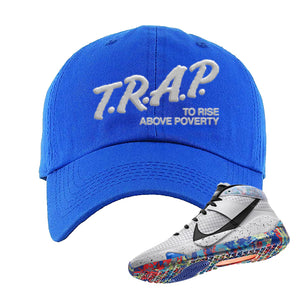 KD 13 Home Dad Hat | Royal, Trap To Rise Above Poverty