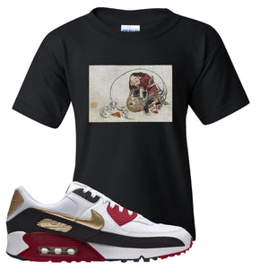 Air Max 90 Chinese New Year Kid's T Shirt | Black, Japanese Rat Party