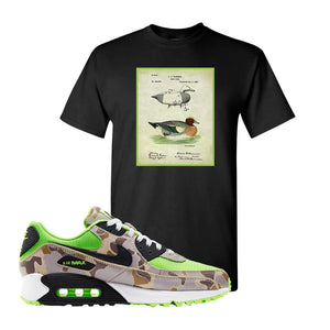 Air Max 90 Duck Camo Ghost Green T Shirt | Black, Decoy Duck