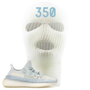 Yeezy Boost 350 V2 Cloud Non-Reflective 350 Sneaker Matching White Ski Mask