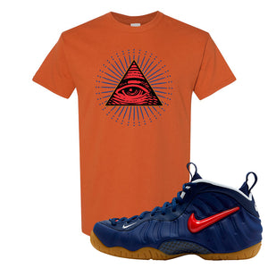 Air Foamposite Pro USA T Shirt | Texas Orange, All Seeing Eye