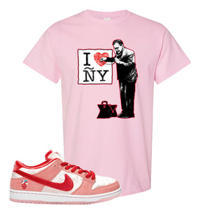 SB Dunk Low 'StrangeLove' T-Shirt | Light Pink, I Heart NY Doctor