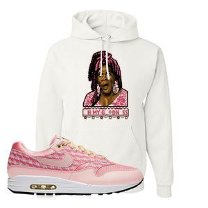 Air Max 1 Strawberry Lemonade Pullover Hoodie | Oh My Goodness, White