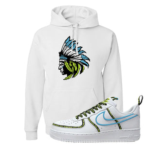 Air Force 1 '07 PRM 'Worldwide Pack' Hoodie | White, Indian Chief