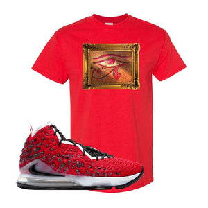 Lebron 17 Uptempo T Shirt | Red, Eye Of RA