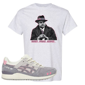 END x Asics Gel-Lyte III Grey And Pink T Shirt | Capone Illustration, Ash