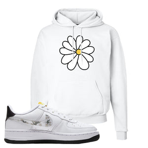 Air Force 1 Hoodie | White, Daisy Flower