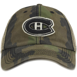 Montreal Canadiens '47 Brand Woodland Camouflage Tonal Mesh-Back Flex Cap