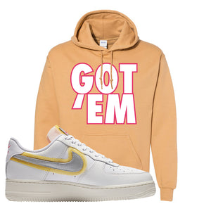 Air Force 1 Low 07 LX White Gold Hoodie | Got Em, Old Gold