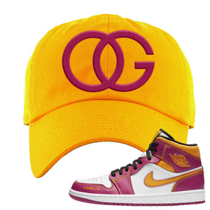 Air Jordan 1 Mid Familia Dad Hat | OG, Gold