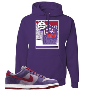 Dunk Low Plum Sneaker Deep Purple Pullover Hoodie | Hoodie to match Nike Dunk Low Plum Shoes | 90's House Party