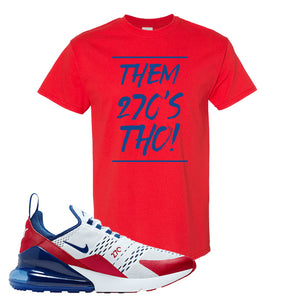 Air Max 270 USA T Shirt | Red, Them 90's Tho