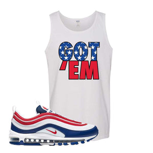 Air Max 97 USA Tank Top | White, Got Em