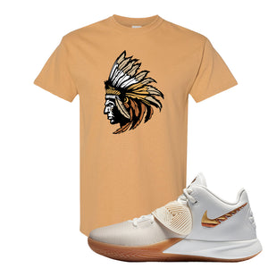 Kyrie Flytrap 3 Summit White T Shirt | Indian Chief, Old Gold