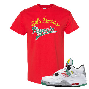 Jordan 4 WMNS Carnival Sneaker Red T Shirt | Tees to match Do The Right Thing 4s | Sal's Famous Pizzeria
