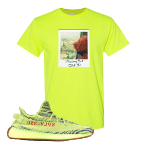Missing The Old Ye Safety Green T-Shirt to match Yeezy Boost 350 V2 Frozen Yellow Sneaker
