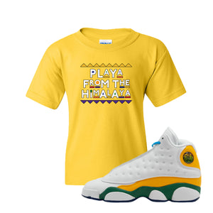 Playa From the Himalaya Gold Kid's T-Shirt to match Air Jordan 13 GS Playground Kids Sneaker