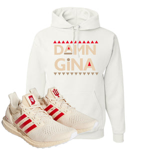 Adidas Ultra Boost 1.0 Indiana Pullover Hoodie | Damn Gina, White