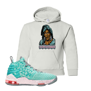 Lebron 17 South Beach Kids Pullover Hoodie | Oh My Goodness, White