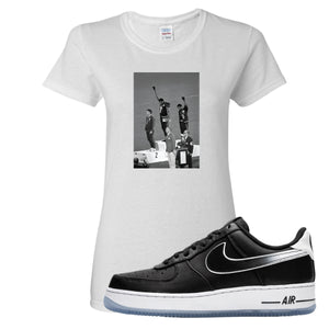 Colin Kaepernick X Air Force 1 Low Kaepernick Fist White Sneaker Hook Up Women's T-Shirt