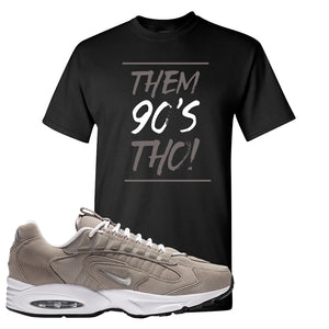Air Max Triax 96 Grey Suede T Shirt | Them 90's Tho, Black