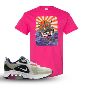 Air Max 200 WMNS Fossil Sneaker Heliconia T Shirt | Tees to match Nike Air Max 200 WMNS Fossil Shoes | Ramen Monster