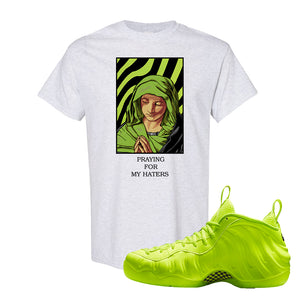 Air Foamposite Pro Volt T Shirt | God Told Me, Ash