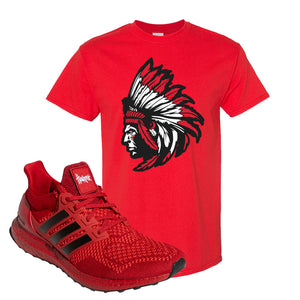 Ultra Boost 1.0 Nebraska T-Shirt | Indian Chief, Red