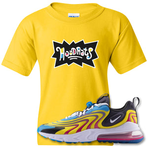 Hood Rats Daisy Kid's T-Shirt to match Air Max 270 React ENG Laser Blue Sneakers