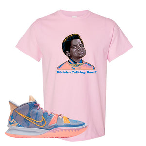 Kyrie 7 Expressions T-Shirt | Watchu Talkin Bout, Light Pink
