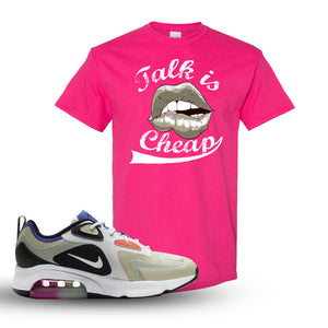 Air Max 200 WMNS Fossil Sneaker Heliconia T Shirt | Tees to match Nike Air Max 200 WMNS Fossil Shoes | Talk Is Cheap