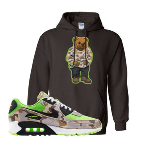 Air Max 90 Duck Camo Ghost Green Hoodie | Dark Chocolate, Sweater Bear