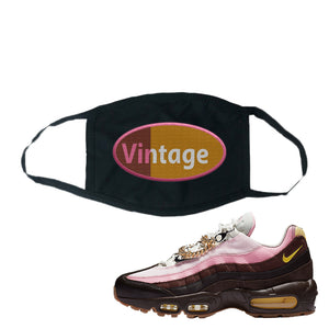 Air Max 95 Cuban Links Face Mask | Black, Vintage Oval