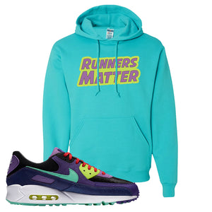 Air Max 90 Cheetah Hoodie | Runners Matter, Scuba Blue