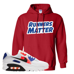 Air Max 90 Paint Streaks Hoodie | Runners Matter, Red