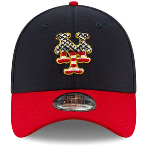 New York Mets Stars and Stripes 2019 Fourth Of July On Field 39THIRTY Flexfit Cap