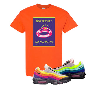 Airmax 95 '20 For 20' Sneaker Orange T Shirt | Tees to match Nike Airmax 95 '20 For 20' Shoes | No Pressure No Diamond