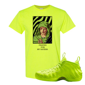 Air Foamposite Pro Volt T Shirt | God Told Me, Safety Green
