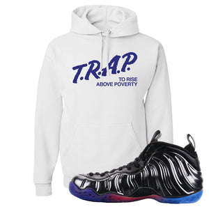 Air Foamposite One QS Gradient Soles Hoodie | Trap To Rise Above Poverty, White